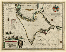 South America Map By Willem Janszoon Blaeu