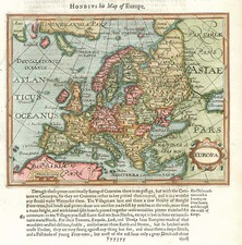 Europe and Europe Map By Jodocus Hondius / Samuel Purchas