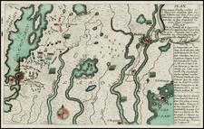 New England and Canada Map By Christian Friedrich von der Heiden