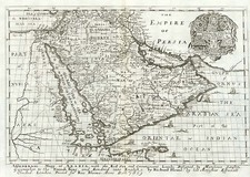 Asia, Middle East and Holy Land Map By Richard Blome