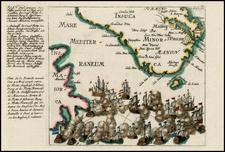 Spain and Balearic Islands Map By Christian Friedrich von der Heiden