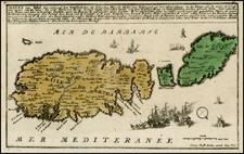 Mediterranean and Balearic Islands Map By Christian Friedrich von der Heiden