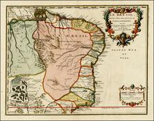 Brazil Map By Nicolas de Fer