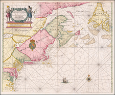 New England, Mid-Atlantic, Southeast and Canada Map By John Thornton
