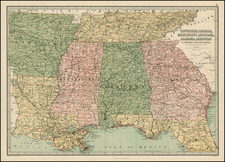 South and Southeast Map By T. Ellwood Zell