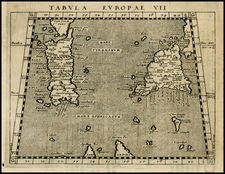 France, Italy, Balearic Islands and Sicily Map By Giovanni Antonio Magini