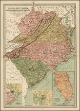 Southeast Map By T. Ellwood Zell