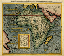 Africa and Africa Map By Sebastian Münster