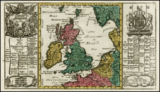 British Isles Map By Georg Christoph Kilian