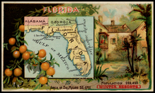 Florida Map By Arbuckle Brothers Coffee Co.