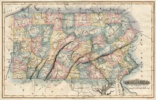 Mid-Atlantic Map By Fielding Lucas Jr.