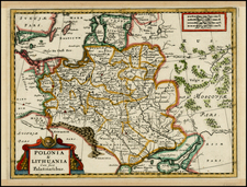 Poland, Russia, Ukraine and Baltic Countries Map By Adam Friedrich Zurner