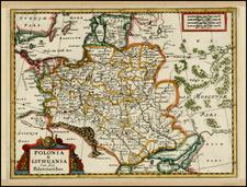 Poland, Russia, Ukraine and Baltic Countries Map By Adam Friedrich Zurner