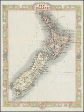 New Zealand Map By John Rapkin
