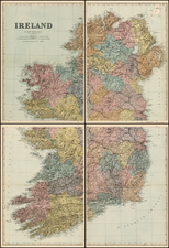 Ireland Map By Edward Weller