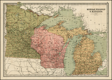 Midwest Map By T. Ellwood Zell