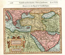 Europe, Turkey, Mediterranean, Asia, Middle East and Turkey & Asia Minor Map By Jodocus Hondius / Samuel Purchas