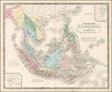 Southeast Asia and Philippines Map By W. & A.K. Johnston