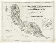 Caribbean Map By Richard Holmes Laurie  &  James Whittle