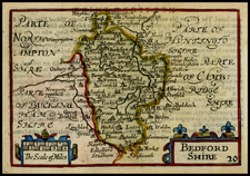 British Isles and British Counties Map By John Speed