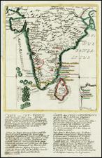 India and Other Islands Map By Christian Friedrich von der Heiden