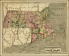 New England Map By Charles Morse