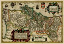 Portugal Map By Jodocus Hondius
