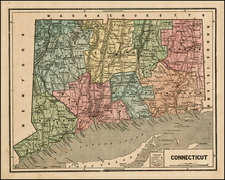 New England and Connecticut Map By Charles Morse