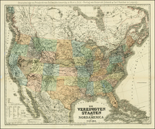 United States and Canada Map By Heinrich Kiepert  &  C. Poppey