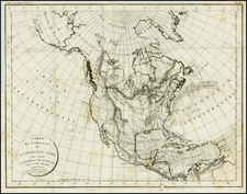North America Map By Constantin F. Volney