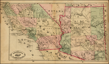 California Map By HS Stebbins