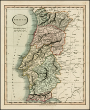 Portugal Map By John Cary