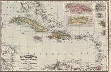 Caribbean Map By William Rand  &  Andrew McNally