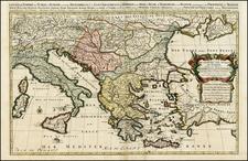 Ukraine, Romania, Balkans, Italy, Greece, Turkey and Balearic Islands Map By Alexis-Hubert Jaillot