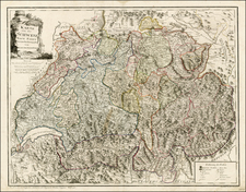 Switzerland Map By Franz Johann Joseph von Reilly