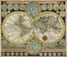 World and World Map By Adam Friedrich Zurner