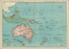 Hawaii, Southeast Asia, Other Islands, Australia & Oceania, Oceania, Hawaii and Other Pacific Islands Map By William Rand  &  Andrew McNally