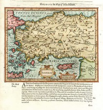 Europe, Turkey, Mediterranean, Balearic Islands, Asia and Turkey & Asia Minor Map By Jodocus Hondius / Samuel Purchas