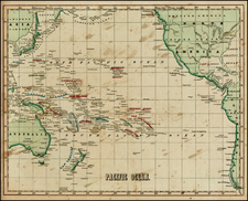 Australia & Oceania, Pacific and Oceania Map By Sidney Morse
