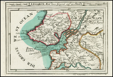Portugal Map By Christian Friedrich von der Heiden