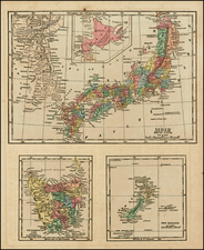 Japan, Australia and New Zealand Map By Sidney Morse
