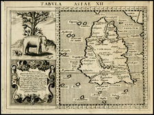 India and Other Islands Map By Giovanni Antonio Magini