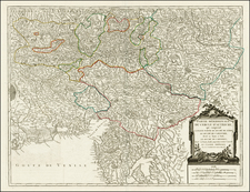 Austria, Balkans, Croatia and Italy Map By Gilles Robert de Vaugondy