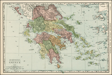 Greece and Balearic Islands Map By Rand McNally & Company