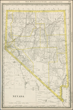 Southwest and California Map By William Rand  &  Andrew McNally