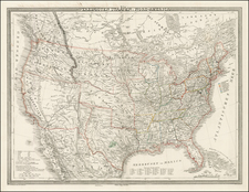 United States and Texas Map By Carl Ferdinand Weiland