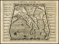 India and Southeast Asia Map By Giovanni Antonio Magini