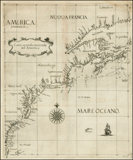 New England, Mid-Atlantic, Southeast and Canada Map By Robert Dudley