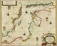 Poland, Baltic Countries, Scandinavia and Sweden Map By Anthonie (Theunis)   Jacobsz
