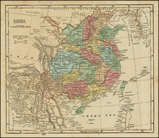 China and Korea Map By Sidney Morse